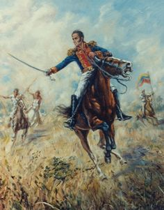 South America, Painting, Education, Venezuela Flag, Gran Colombia, Caricatures, Drawings, Battle Field, Male Character Design