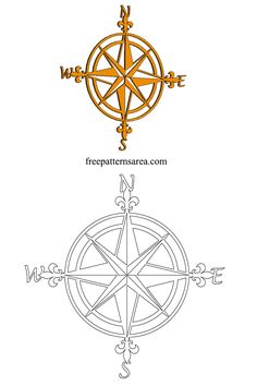 Compass Art Plasma Laser Metal Art Cutting Design