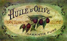 Indoor Vintage Olive Oil Kitchen Mat - Multi - x (Vintage Olive (Memory Foam, Floral & Botanical) Vintage Paris, Olives, Cheap Rugs, Kitchen Mat, Shabby Chic, Vintage Labels, Vintage Stamps, Online Home Decor Stores, Colorful Rugs