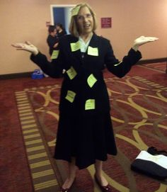 Zoe dressed up as Cisney from Calculated Risk at the American Christian Fiction Writers' Conference 9-2014