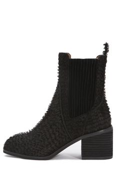 2c10066e1de91 Jeffrey Campbell Hunter Chelsea Boot in Fuzzy Black