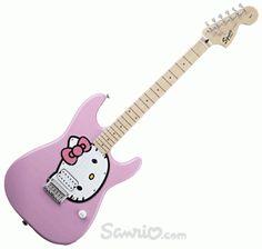 Guitare-hello-kitty