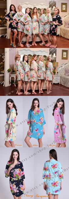 c42af9f566 Bridesmaid robes Bride to be embroidered robes gift for bride bathrobe bride  and bridesmaid robes bridal
