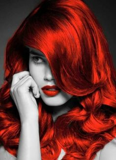 When you care for your hair your whole life changes. Good hair tells other people that you are put together. Red Images, Splash Photography, Dull Hair, Simply Red, Shades Of Red, Colorful Fashion, Color Splash, Red Color, Hairdresser