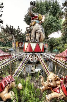 Abandoned amusement park in Italy.  This guys work is amazing! Follow the link to see his awesome photo's.