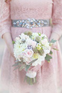 love this bouquet!  and bridesmaid dress/belt.  In Bloom Florists.  Huntsville.  Bridesmaid bouquet.