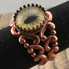 Cats Eye Ring in Copper by oscarcrow on Etsy, $28.00