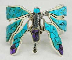 Front view of Aaron John Butterfly Bracelet