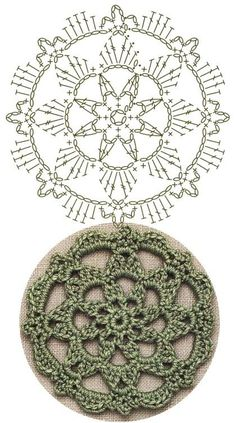 No.34 Starburst Medallion Lace Crochet Motifs / 스타버스트 모티브도안
