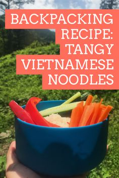 This backpacking recipe using rice noodles, a make-before sauce and nuts is simple and quick to make on the trail, and the result is a flavorful punch of sweet, sour and a touch of spice. Hiking Food, Backpacking Food, Ultralight Backpacking, Hiking Tips, Hiking Gear, Camping Menu, Camping Foods, Camping Kitchen, Recipes Using Rice