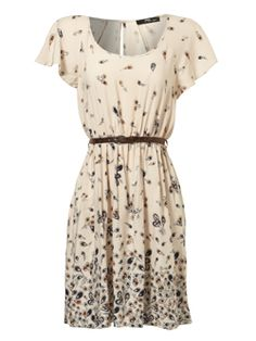 ff661626caaa8d angel sleeve feather print dress - very versatile. fay Lourens · jane norman  dresses