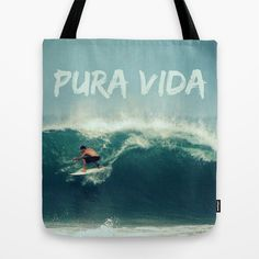 Costa Rica Pura Vida Surf Tote Bag by Endless Summer - $22.00 #costarica #surf #puravida