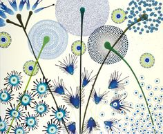dan bennett is an artist based in brighton who creates intricate swirling patterns that take on the form of florals. Tangle Doodle, Tangle Art, Zen Doodle, Doodle Art, Arabesque, Flower Doodles, Doodle Flowers, Blue Flowers, Language Of Flowers