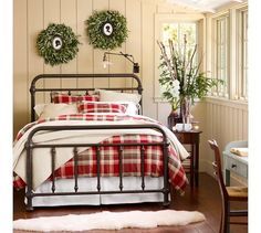 Coleman Bed   Pottery Barn Good pic of the bed, not with this country style bedding :)