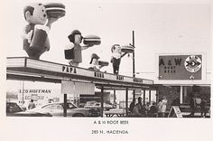 In the summer of 1967 I worked at an A & W Root Beer stand that looked just like this one (in Lompoc, CA - owned by Darren Katzakian).  Remember the Papa, Mama and Baby burgers?