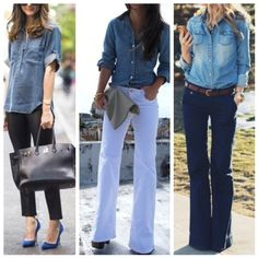 Jeans shirt / camisa jeans
