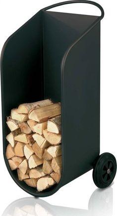 haardhout kar - Google zoeken Firewood Holder, Firewood Storage, Diy Welding, Fireplace Tools, Fireplace Accessories, Wood Burner, Tv Decor, Steel Furniture, Wooden Shelves