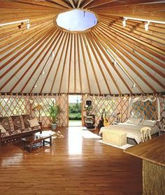 Yurt Interior Design Awesome Hmm who Knew Yurt Living Was so Chic My Ideal Home . - Lilly is Love Yurt Interior, Interior And Exterior, Interior Design, Yurt Living, Outdoor Living, Bungalows, Yurt Pictures, Glamping, Sustainable Architecture