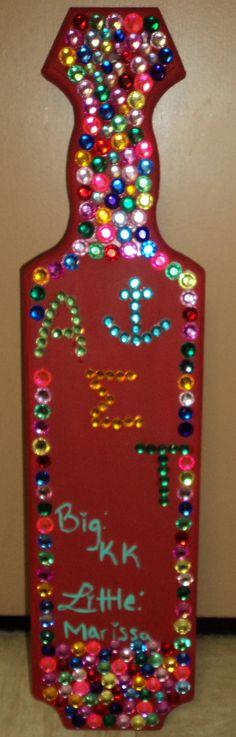 Sorority Paddle - Alpha Sigma Tau. The one I made for my big :) YAY BETA DELTA!!!