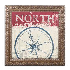 'Nautical' by Wellington Studio Ornate Framed Graphic Art
