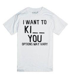Options May Vary-Unisex White T-Shirt