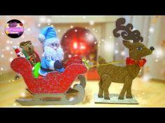 HAZ TU PROPIO TRINEO CON PAPA NOEL Y SU RENO PARA ESTA NAVIDAD | EPDLM - YouTube Reindeer, Snowman, Dremel, Xmas, Christmas, Birthday Candles, Gifts, Handmade, Diy