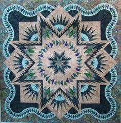 Glacier Star, Quiltworx.com, Made by Gail B, Quilted by Naomi Hynes.