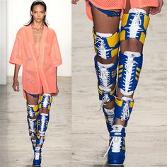 Cool or Crazy? Jeremy Scott's Thigh-High Fashion Sneaker Boots