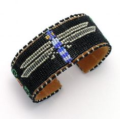 Dragonfly Beaded Bracelet - Teri Greeves - New Mexico Creates - Stunning Art Work by New Mexico Artists