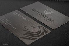 Gunmetal Metal Business Card Design - 12