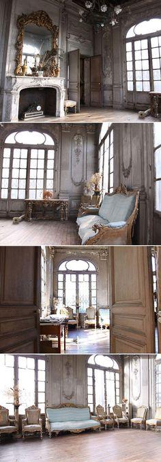 #pantina #ballroom #wedding 18th century patina, abandoned ballroom.