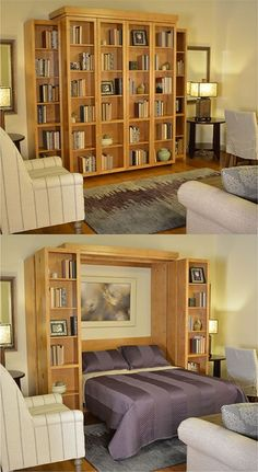 With A Bi Fold Bookcase Wall Bed You Can Take Convertible Furniture To