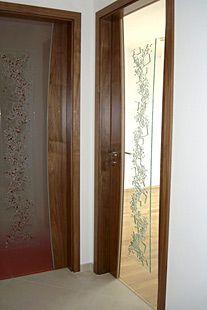 Stollentüren mit Glasdesign Fusingglas