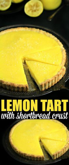 Tart and tangy this lemon tart is deliciously sweet with a shortbread crust that is to die for. This is an impressive from-scratch dessert that is creamy, delicious and easy! desserts from scratch Lemon Tart with Shortbread Crust - Frugal Mom Eh! Lemon Recipes, Tart Recipes, Sweet Recipes, Cooking Recipes, Lemon Tarte Recipe, Lemon Desert Recipes, Cooking Tips, Just Desserts, Delicious Desserts