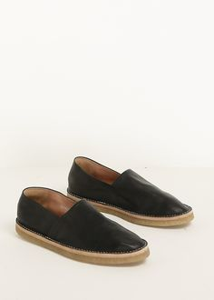 Dries Van Noten Leather Slip On (Black)