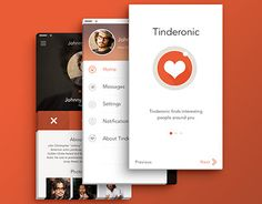 "Check out new work on my @Behance portfolio: ""Mobile UI - Tinderonic (Social Network App)"" http://on.be.net/1MgWlca"