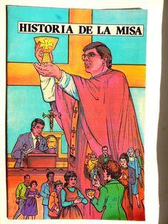 Spanish Comic Book Mexican Catholic Historia de la Misa History of Mass 1983 Vtg