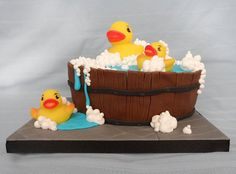 Rubber Duck Birthday Cake - Cakes by Natalie Porter ...