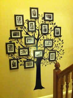 Family Tree - Wall Decal and picture frames...super easy!