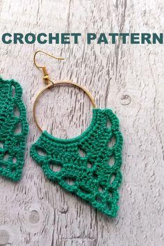 cute Crochet 423971752423718861 - Source by phareinn Crochet Jewelry Patterns, Crochet Earrings Pattern, Crochet Accessories, Crochet Necklace, Diy Crochet, Crochet Hooks, Tutorial Crochet, Leaf Earrings, Diy Earrings