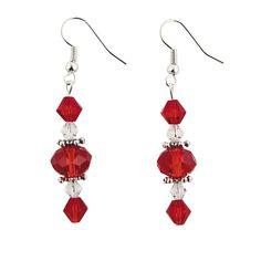 Red Faceted Dangle Earring Kit - OrientalTrading.com