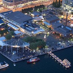 Located in the heart of Toronto's downtown waterfront, The Harbourfront Centre is a non-profit cultual organization providing programming in the arts, culture, education and recreation. Catch a free film screening or enjoy on-the-harbour dance lessons.