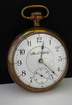 1901 Illinois 14kt Gold Filled 18 Size 15 Jewel Grade 51 Pocket Watch-Running #Illinois