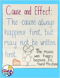 Cause and Effect Activities 4th Grade