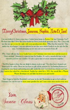 babys first christmas letter from santa available from www