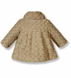 Abrigo de pelo sintético rosa de niña | Roupas, Casaco