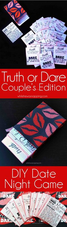 Truth or Dare Couple's Edition is a super fun way to spice up date night. Also, a fun gift idea!