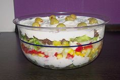 Uschis griechischer Schichtsalat, ein beliebtes Rezept aus der Kategorie Fleisch & Wurst. Bewertungen: 108. Durchschnitt: Ø 4,6.