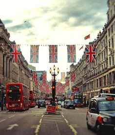 The buzzing streets of London.