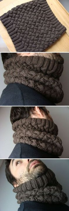 Ideas crochet scarf cowl snood for 2019 Knit Cowl, Knitted Shawls, Crochet Scarves, Knit Hats, Loom Knitting, Hand Knitting, Knitting Patterns, Crochet Patterns, Knitting Projects